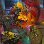 Bagno di fiori Olio su tela.70x100.2013